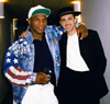 Backstage on tour with Bobby Brown.